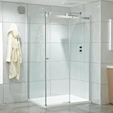 corner frameless single sliding door shower enclosure 16 sizes 8mm easy clean safety glass