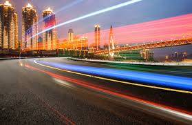 Abstract Image Of Blur Motion Of Cars On The City Road At