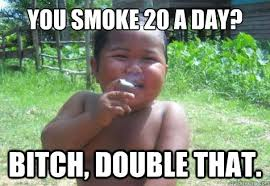 Condescending Smoking Indonesian Kid memes | quickmeme via Relatably.com