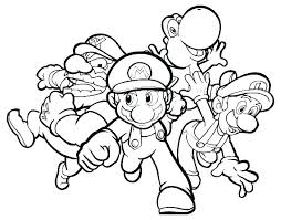 Mario And Luigi Bowser Coloring Pages Coloring Pages Free Coloring