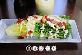 caesar salad dressing stabbed. Delighful Dressing Caesar Romaine Wedge Salad L SimplyScratchcom Throughout Dressing Stabbed