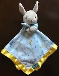 goodnight moon plush blue bunny rabbit security blanket lovey baby blankie 1 of 3free