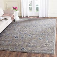 safavieh evoke dark grey yellow 8 ft x 10 ft area rug