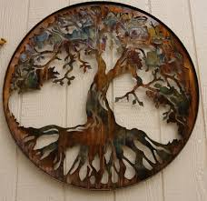 on brown metal tree wall art with tree of life 34