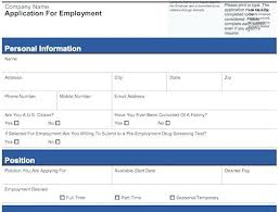 Sample Employment Application Template – Trufflr