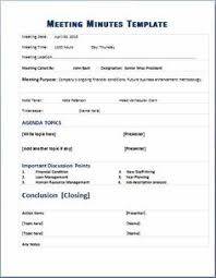 Minute Taking Templates 18 Best Meeting Minutes Templates Images Sample Resume Meeting