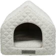 noah cave pet bed light grey canine
