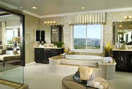 bathroom design center 4. Luxury Master Bathroom With Large Step-up Soaking Tub In The Center Between Two Vanities Design 4 H