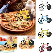 Stainless Steel Pizza <b>Knife</b> Two-wheel <b>Bicycle</b> Shape <b>Pizza Cutting</b> ...
