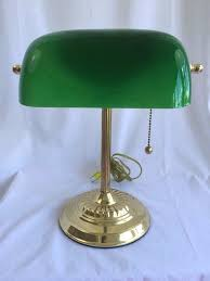 Lovely Green Shade Desk Lamp Of Antique Bankers Lamp Green Cased