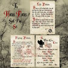 hocus pocus runs deep pocus spell page set