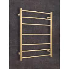 heated towel bar. Gold Heated Towel Rail - Wall Mounted Traditional 7 Bar