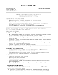 Resume For Project Manager Position. Mallika Indran, PhD 340 Hollyberry  Trail ...