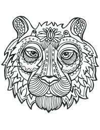 Coloriage De Animaux Tete De Tigre Imprimer Artherapie Ca