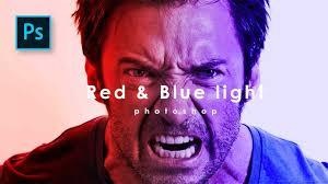 Cara Membuat Efek Lighting Di Photoshop Membuat Efek Cahaya Di Photoshop Red Blue Light Effect Photoshop Tutorial Indonesia