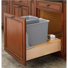 Kitchen Garbage Cans Under Sink Remodel Ideas Pull Out Built In Trash Cans  Cabinet Slide Out Under Sink