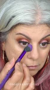 full face makeup video tutorial pink eye shadow makeup with red lips on grey hair video tutorial i used the dose of colors palette for this look