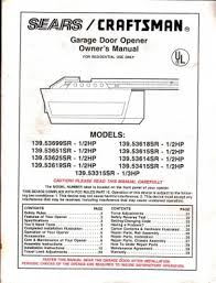 craftsman garage door opener manual. Craftsman Garage Door Opener 1 2 Hp Manual Fluidelectric A