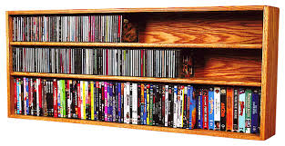 cd and dvd vhs tape book cabinet