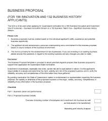 Basic Business Proposal Template Simple Business Proposal