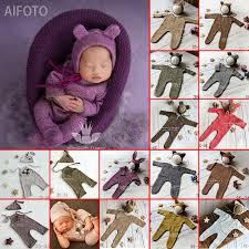 <b>Newborn baby</b> girl boy <b>Photography Props Cute</b> Cheap Knit Romper ...