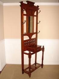 Antique Hall Coat Rack hmmm how about a mirror with such a frame on the wall near the 5