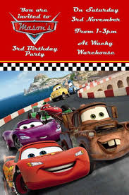 Lightning Mcqueen Birthday Party Personalised Disney Cars Lightning Mcqueen Birthday Party Invitation Pack Of 10 50