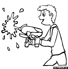 Small Picture Water Gun Coloring Page Coloring Home
