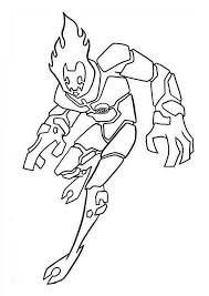 Small Picture Heatblast One of the Earliest Alien Form in Ben 10 Coloring Page