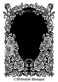Paper Picture Frame Templates Floral Border Frame Paper Cutting Template Personal Use Etsy