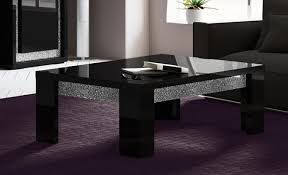 perfecta diamond black coffee table with wood or glass top by status italy black coffee table