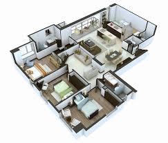 3 bedroom bungalow house designs stunning modern floor plan 3d house