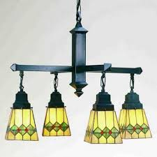 martini mission style tiffany stained glass chandelier