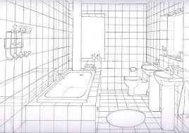 simple bathroom drawing. Beautiful Drawing Simple Bathrooms One Point Perspective  Google Search In Simple Bathroom Drawing I