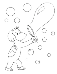 curious george ing bubbles curious george coloring pages