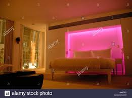 wall mood lighting. bedroom with colour mood lighting in st martins hotel wall t