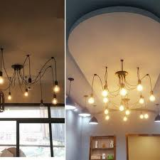 diy vintage nordic spider chandelier multiple adjule retro hanging lamps loft classic decorative fixture lighting led