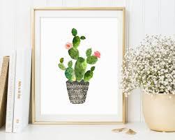 cactus wall art print