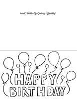 black and white printable birthday cards free printable birthday cards ks korner pinterest free