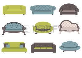 sofa clipart. sofa: set of colorful sofa illustration clipart