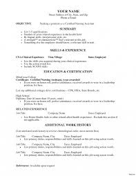 Resume Templates Projects Idea Cna Examples Commercial Lease Nursing