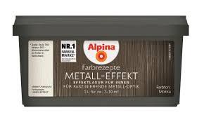 Alpina Innenfarbe Wandfarbe Metall Effekt Mokka 1 L