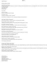 Pharmacist Internship Resume Sidemcicek Com