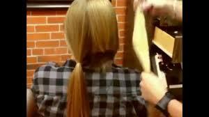 激変超ロングヘアーをショートにばっさりヘアカット刈り上げ女子