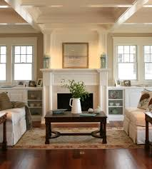 fire places beach style living room philadelphia by asher slaunwhite architects
