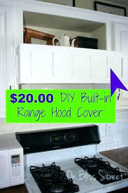 diy metal range hood wood range hood cover metal for under kitchen with storage lovely best