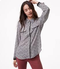 loft utility jacket. petite floral tipped utility blouse loft jacket
