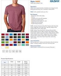 Gildan Shirt Color Chart 2016 Gildan Mens Softstyle Fashion Double Needle T Shirt
