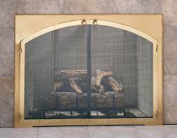 easy fireplace screens with doors