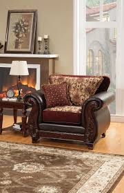 Burgundy Accent Chair Burgundy Leatherette Fabric Traditional Accent Pillows Sofa